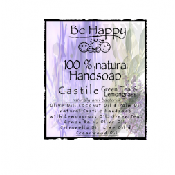 Be Happy Castile Handsoap  Green Tea & Lemongrass