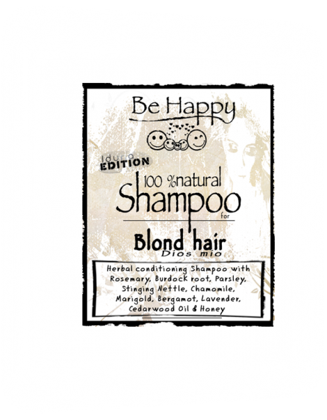 Be Happy  Castile SHAMPOO  Dios mio  for blond hair