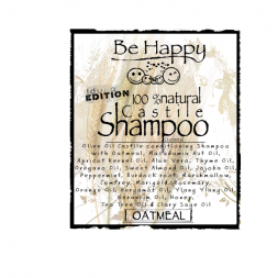 Be Happy Castile Shampoo  Oatmeal soothing for eczema