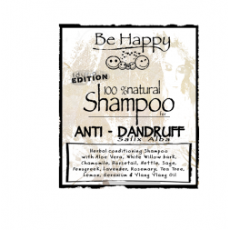 Be Happy Castile Shampoo  Salix Alba anti dandruff
