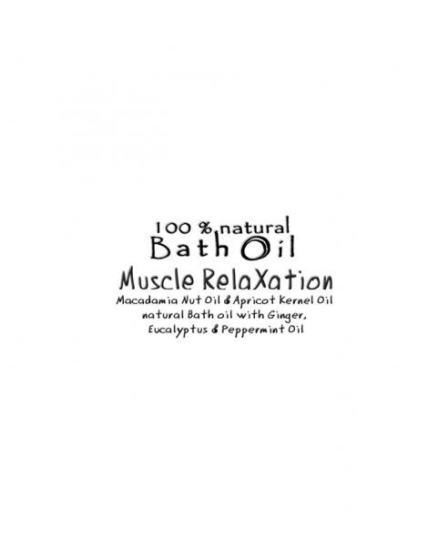 Be Happy Bath Oil  Muscle RelaXation