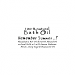 Bath Oil – Remember Summer.. ? __ 100ml _