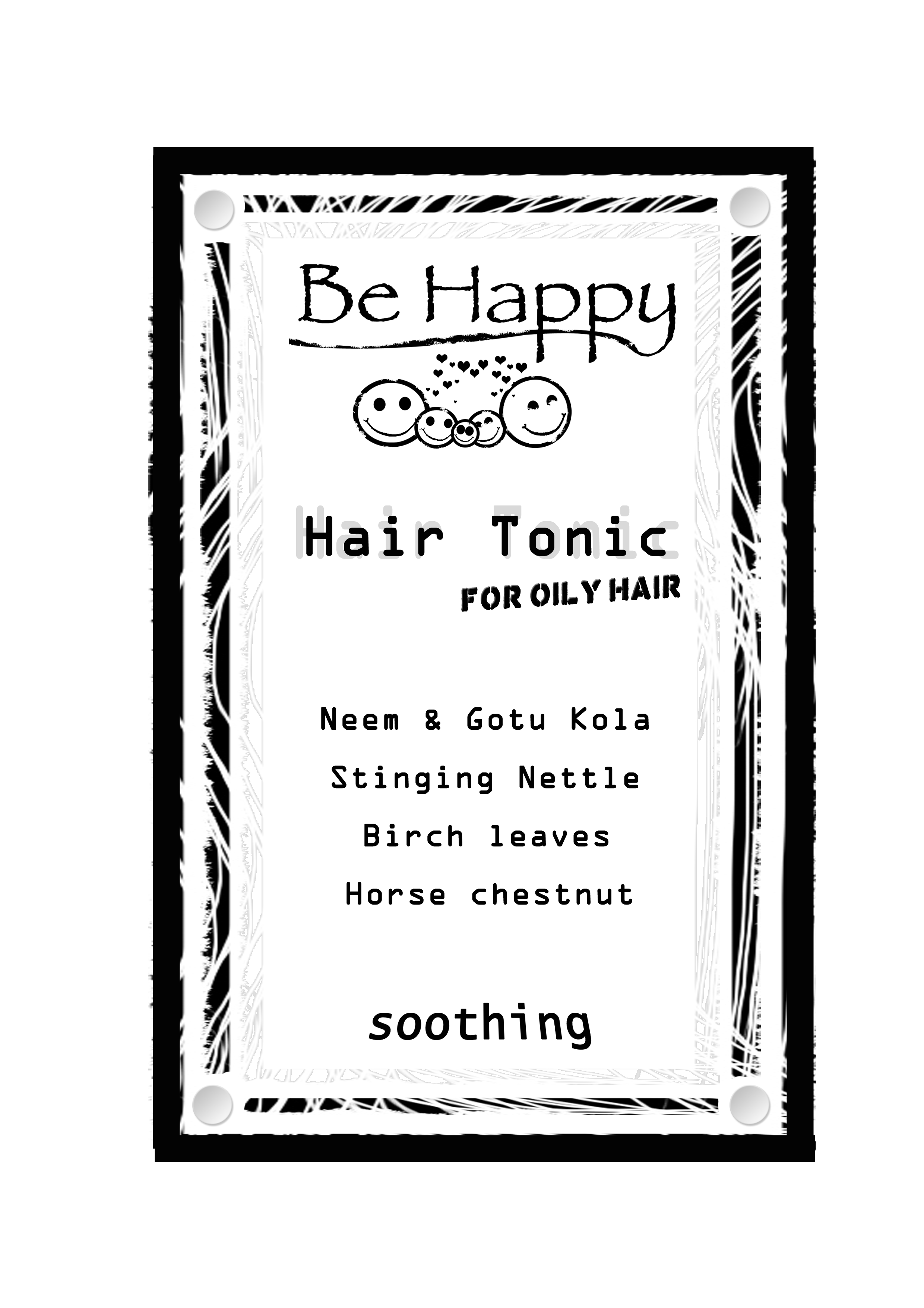 Hair Tonic  >> for oily hair  __ 100 ml _