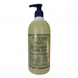 BE HAPPY Castile Shampoo Bodywash Lemongrass Rosemary 500 ml HH