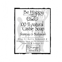 Be Happy Castile Soap SH & BW L'Orange sourire