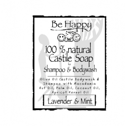 Be Happy Castile Soap SH & BW Lavender & Mint