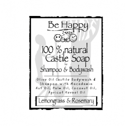 Be Happy Castile Soap SH & BW Lemongrass & Rosemary