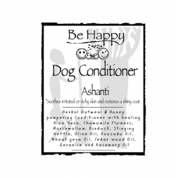 Be Happy PETCARE   Dog Oatmeal Conditioner  soothing  Ashanti