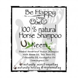 BE HAPPY Neem Horse Shampoo LABEL FRONT HH